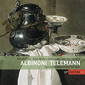 Albinoni · Telemann - Concertos and Sonatas for oboe / Han de Vries · Alma Musica Amsterdam · Bob van Asperen