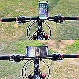 COCOAUTO スマートフォン ホルダー バイク 自転車 バー 取り付け 多機種対応 厚さ調整パッド付属 アーム フレキシブル カーナビ クリップ