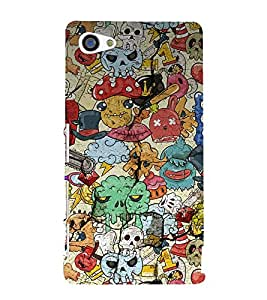 Cartoon Pattern 3D Hard Polycarbonate Designer Back Case Cover for Sony Xperia Z5 Compact :: Sony Xperia Z5 Mini