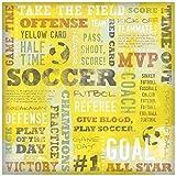 Karen Foster Design Scrapbooking Paper, 25 Sheets, Yellow Card Collage, 12 x 12