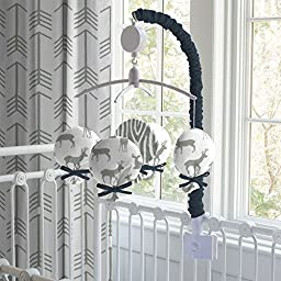 Carousel Designs Navy and Gray Deer Mobile