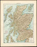 Antique Map-GREAT BRITAIN-SCOTLAND-ORKNEY-SHETLAND ISLANDS-Andree-1904