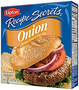 Lipton Recipe Secrets Recipe Soup & Dip Mix, Onion 2 oz  pack of 6