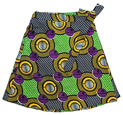 Dsenyo African Print Cotton Wrap Skirt One Size