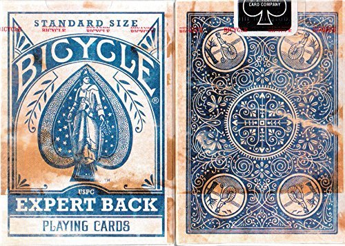 Bicycle Distressed Expert Back Blue Playing Cards