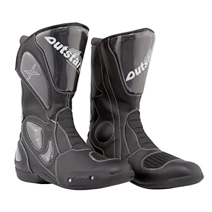 Outstars 00542 Bottes Moto Estoril, Noir, 42