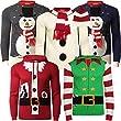 Mens Threadbare Xmas/ Christmas Reindeer Crew Neck Knit Jumper (Charcoal) M