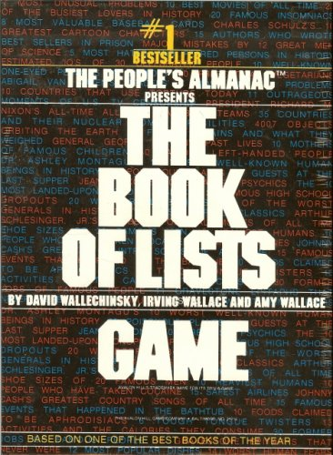 The Book of Lists Game by Avalon Hill - 1