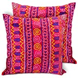 CushionArt Impalla - Throw Pillow Cushion Cover - 18x18in Pink - Set of 2