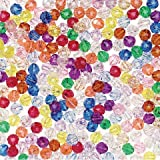 Bulk Buy: Darice DIY Crafts Faceted Plastic Beads Multi Color 8mm 315 pieces (6-Pack) 06314-T27