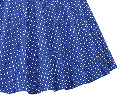MUXXN Women's 1950s Retro Vintage Cap Sleeve Party Swing Dress 4
