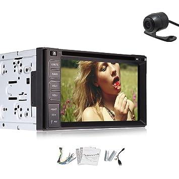 RDS En Dash Dos Din MP3 6.2 pulgadas con pantalla tš¢ctil Manos libres Bluetooth cabeza del coche Unidad de DVD estšŠreo Monitor Audio con Electrš®nica DVD CD MP3 4 USB Transmisor BT EQ SD RADIO FM Estaciš®n