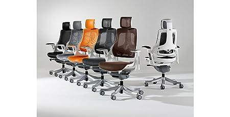 Dynamic EX000110Zure, sedia in pelle con braccioli, da ufficio, colore nero
