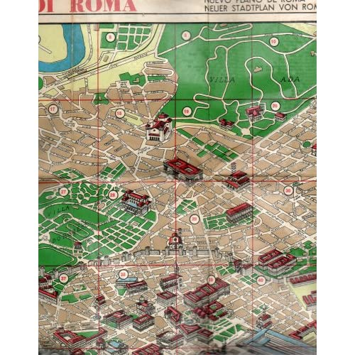 Amazon.com : Vintage Map of Rome Italy: PIANTA MONUMENTALE