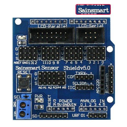 Sainsmart Digital Analog Module V5 Sensor Shield Servo Motor For Arduino Uno Mega Duemilanove