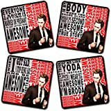 Get Fatang Barney's Bro Quotes TV Series Theme Printed MDF Coaster Set (10.16 Cm X 10.16 Cm, Pack Of 4)