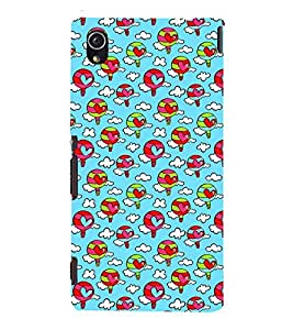 ANIMATED BALOONS WITH HEARTS PATTERN 3D Hard Polycarbonate Designer Back Case Cover for Sony Xperia M4 Aqua :: Sony Xperia M4 Aqua Dual