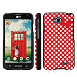 Mobiflare LG Optimus LGl90 L90 Red/White Polk-a-Dots with Bow Slim Guard Protect Artistry Design Case
