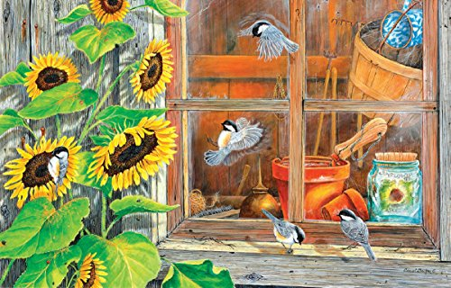 Sunflower Shed 1000 Piece Jigsaw Puzzle by Sunsout Inc.