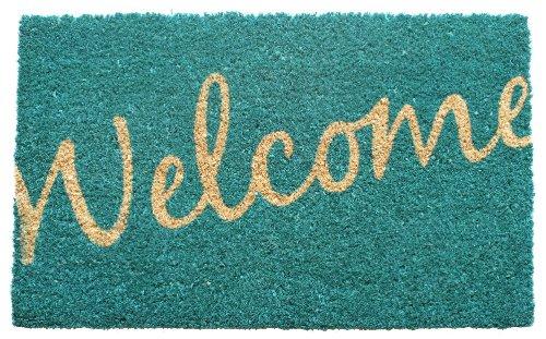 Entryways Non Slip Coir Doormat, 17-Inch by 28-Inch, Cursive Welcome