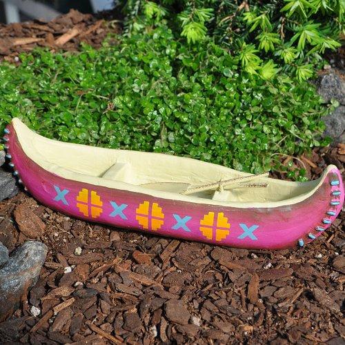 Miniature Fairy Garden Canoe with Medallions