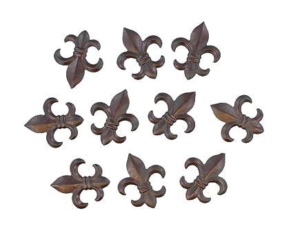 Small Metal Plaques Small Rustic Metal Fleur