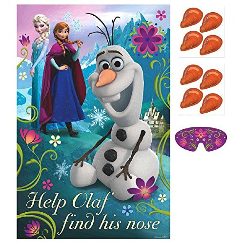 Disney Frozen Birthday Party Game Activity Supplies (8 Pack), Multi Color, 37 1/2 x 24 1/2