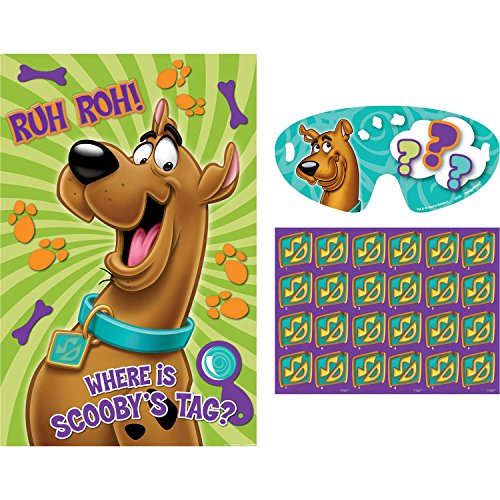 "Amscan Awesome Scooby-Doo Party Game Birthday Party Supply, 37-1/2 x 24-1/2"", Teal/Purple/Green"