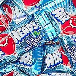 AirHeads Blue Raspberry Taffy Mini Candy Bars 5LB Bag
