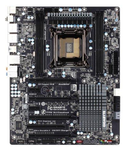 GIGABYTE intel X79 LGA2011 ATX DDR3 4ch,4DIMM 4way SLI/CrossFire RealtekALC898 8chDloby DualUEFI 3DBIOS GA-X79-UD3