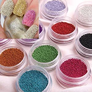 350buy Fashion Caviar Nails Art 12 Colors plastic Beads Manicures or Pedicures Nail Art Hot Sales