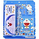 Shoppertize Doraemon Kids Stationery Set, Best Gift Set, Return Gift Set (Set Of 5 Pcs)