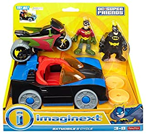 Fisher-Price DC Super Friends Imaginext Batmobile and Cycle from Fisher Price