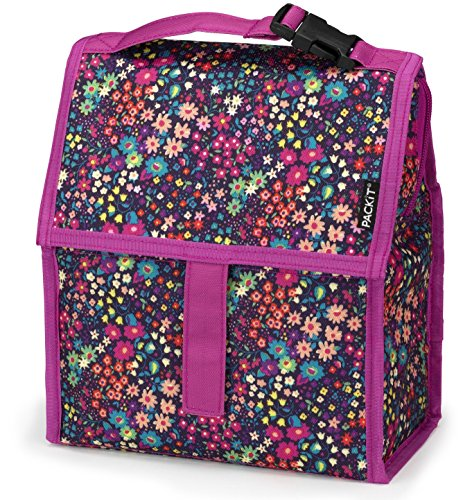 Cheap PackIt Freezable Lunch Bag with Zip Closure, Bloom