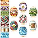 Ukrainian Heat Shrink Wrap Sleeve Decoration Easter Egg Wrappers Pysanka Arounds Set (Geomentry Pysanka) (Color: Geomentry Pysanka)