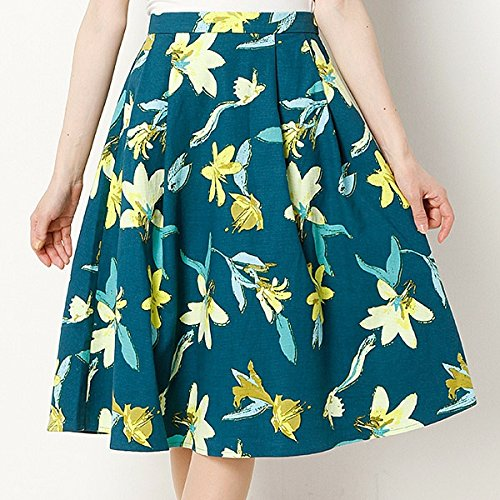 ムルーア(MURUA) スカート(placidフラワーフレアSK)【M40グリーン/2(M)】