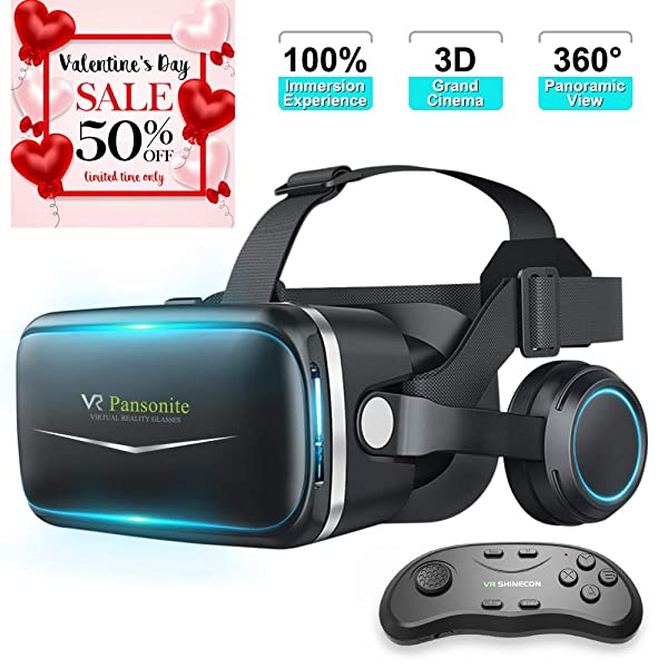 f701171084c Pansonite Vr Headset with Remote Controller New Version
