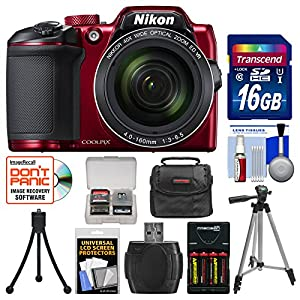 Nikon Coolpix B500 Wi-Fi Digital Camera with 16GB Card + Case + Batteries & Charger + Tripod + Kit