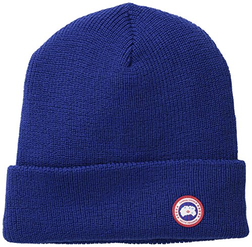 Canada Goose Men's Merino Wool Watch Cap, Pacific Blue, One Size (Canada Goose Merino Wool Hat compare prices)