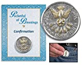 Catholic Gift Come Holy Spirit Confirmation Two Tone Silver Plate Purse Wallet Pocket Coin Token