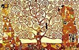 Wieco Art - Tree Of Life Canvas Print By Gustav Klimt, Oil Paintings Reproduction Giclee Artwork for Wall Decor, Stretched and Framed Art work, Modern Canvas Wall Art for Home and office Decoration Landscape Picture Print on Canvas Art KLI-0001 24 by 36 inch