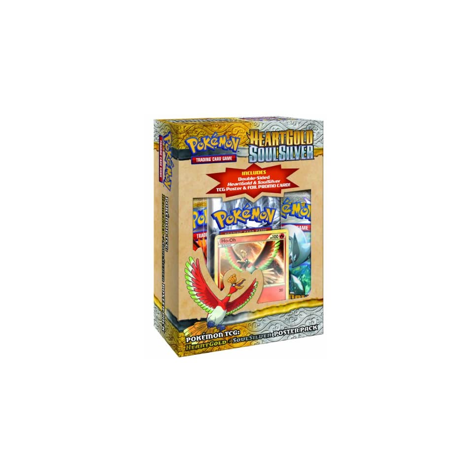 Pokemon Trading Card Game  HeartGold and SoulSilver Poster Box   Lugia