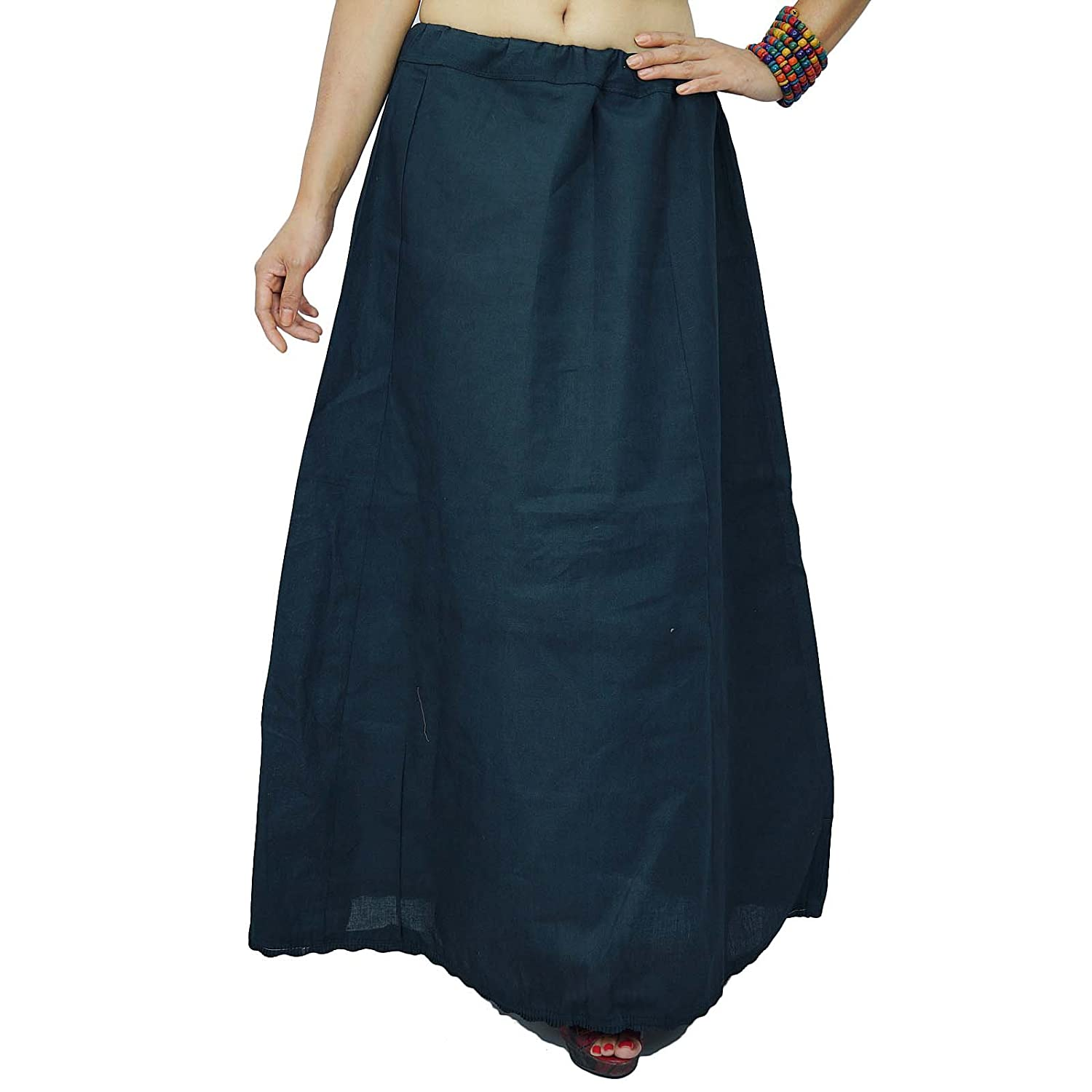 Solide Petticoatunderskirt Bollywood Indian Cotton-Futter für Sari