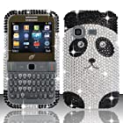 For Samsung S390g (StraightTalk/Net 10/Tracfone) Full Diamond Design Cover - Panda Bear FPD