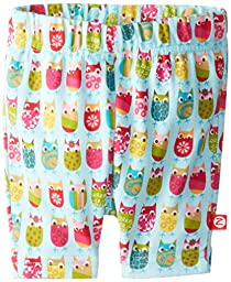 Zutano Baby-girls Infant Owls Bike Shorts, Aqua, 6 Months