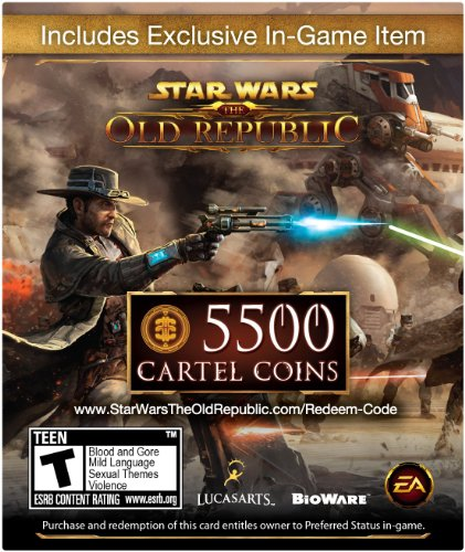Get Star Wars The Old Republic: 5500 Cartel Coins + Exclusive Item [Online Game Code]