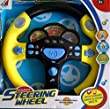 Childrens Toy Steering Wheel Car Pretend Play with Electronic Flashing Lights & Sounds