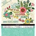 Orange Circle Studio 2015 Do It All 17-Month Magnetic Wall Calendar, Secret Garden (15547)