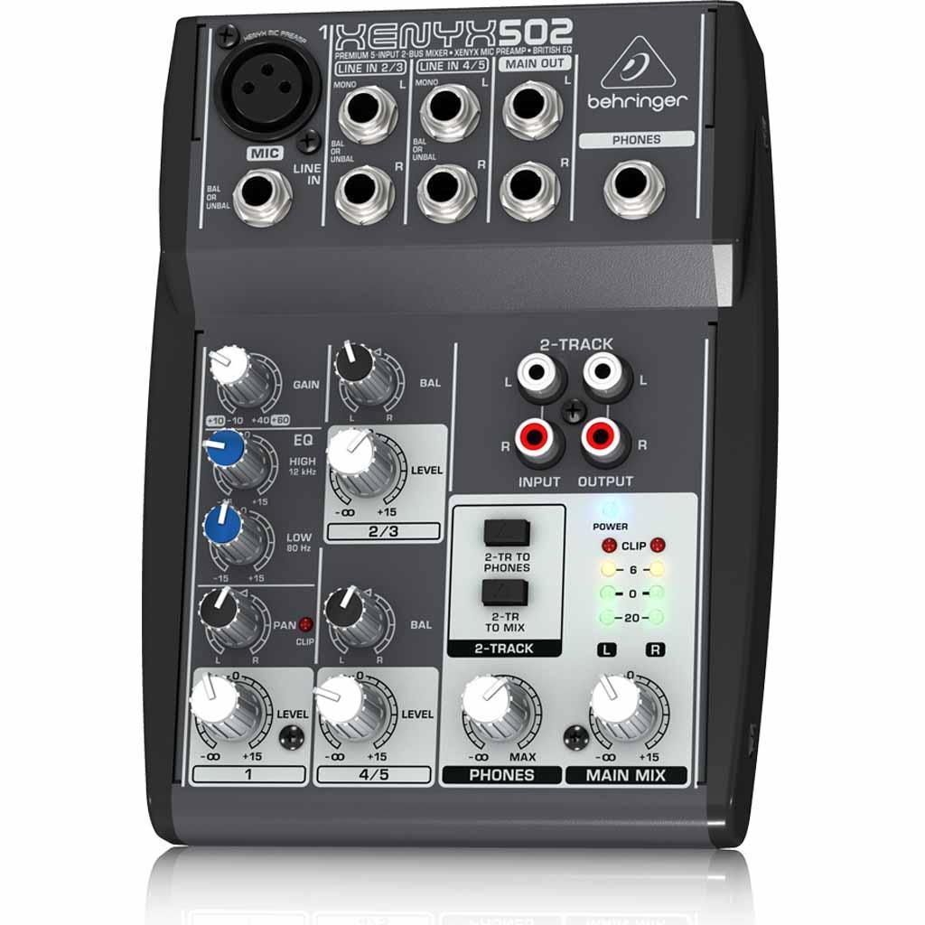 Behringer Xenyx502 5 Channel Professional Dj Studio Analog