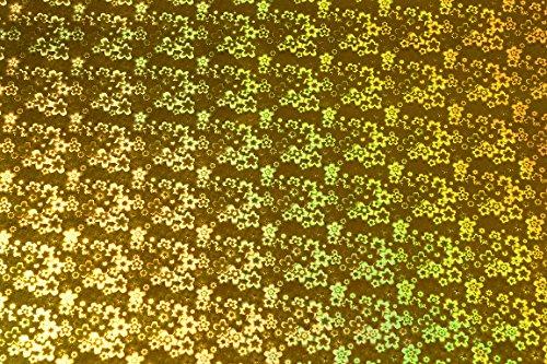 BDPP Premium Plastic Gift Wrappers Golden Holographic Print